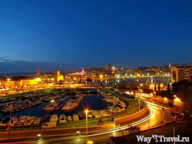Марсель и старый порт вечером (Evening Marseille and Vieux-Port)