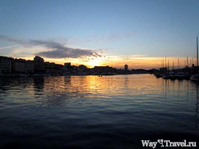 Закат над Старым портом (Sunset over Vieux-Port)