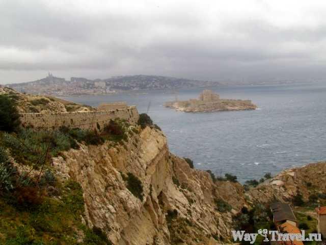 Вид на Марсель и Замок Иф (View of Marseille and Shateau d'If)