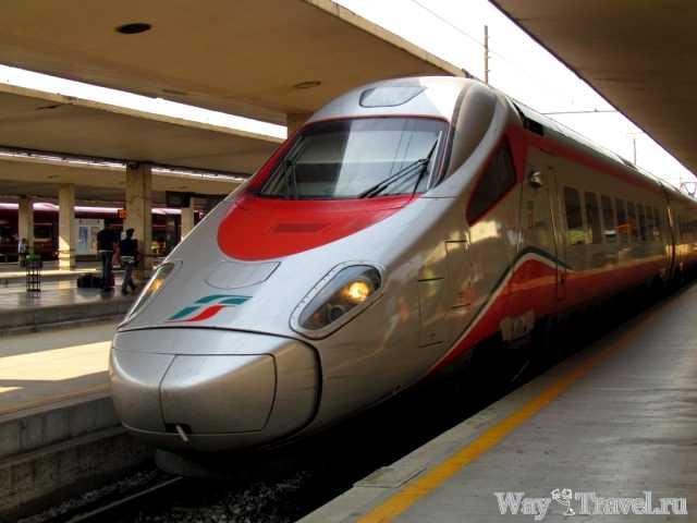 Скоростной поезд итальянских железных дорог (High-speed train of Train Italy)