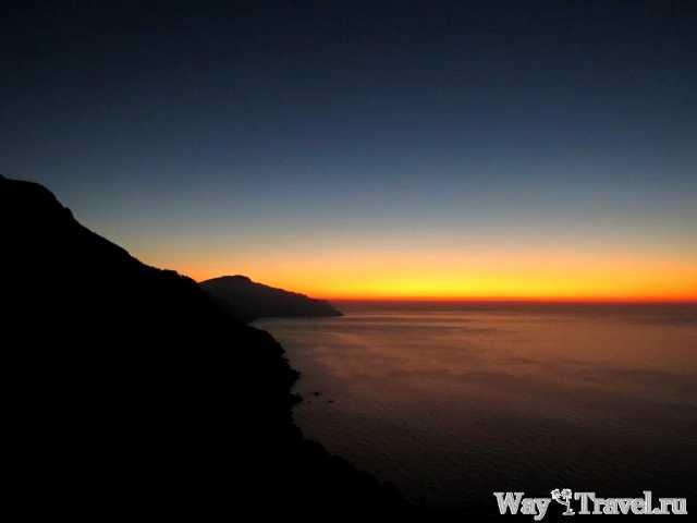 Закат солнца на мысе Са-Форадада (Sunset in Punta de Na Foradada)