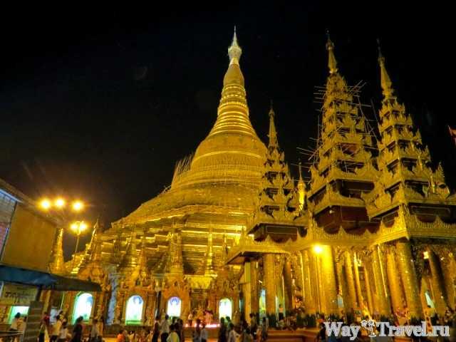 Шведагон вечером (Evening Shwedagon)