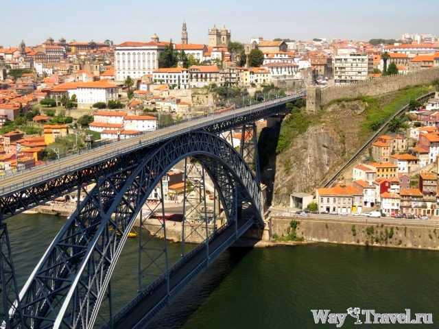 Вид на мост Луиша I со смотровой площадки (Miradouro da Serra do Pilar - Brige of the Luis I)