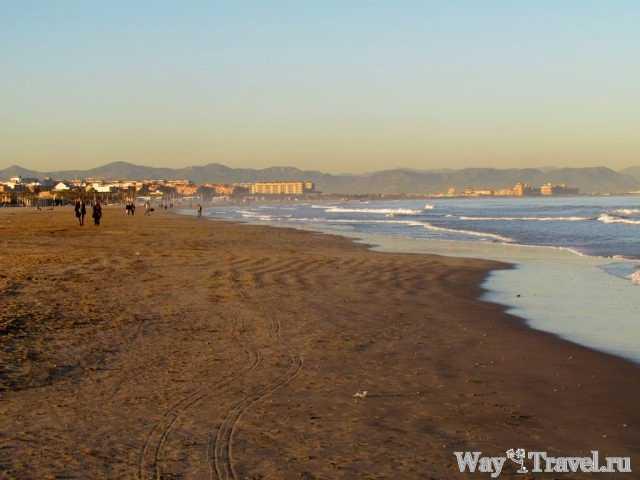 Побережье Средиземного моря в Валенсии (Coast of the Mediterranean sea in Valencia)