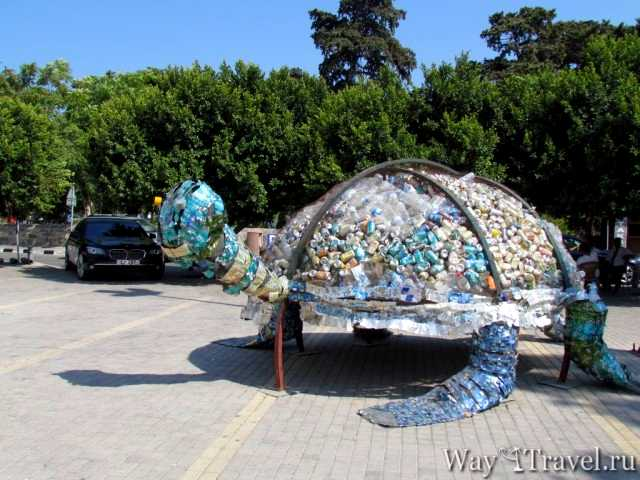 Черепаха из аллюминевых банок (Turtle from alluminum cans)