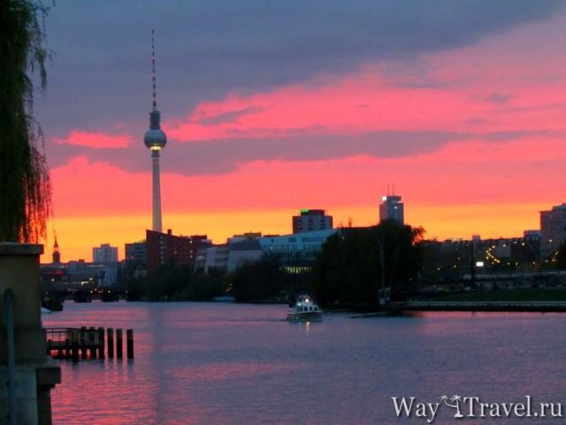Самостоятельная прогулка по Берлину. Вид с моста по Elsenbr?cke