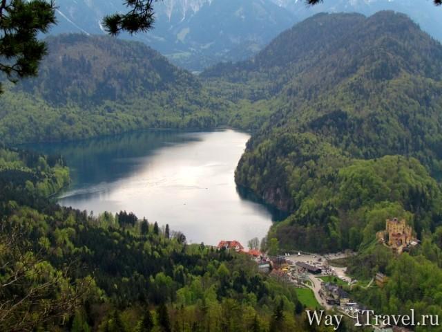 Озеро Альпзе (Alpensee) и Хоэншвангау (Hohenschwangau)