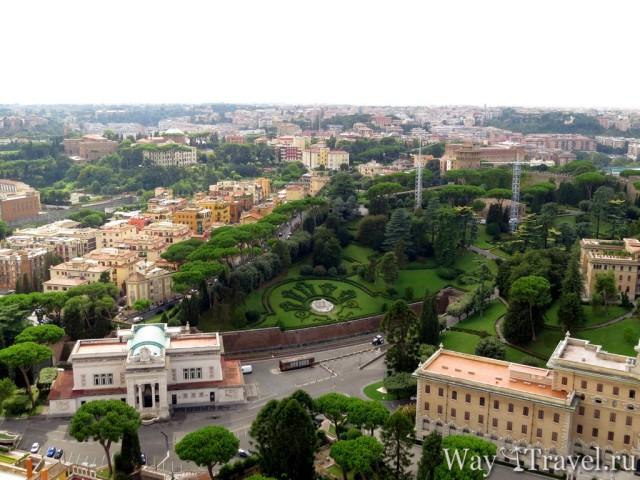 Вид на Ватикан с Собора Святого Петра (View of Vaticano)