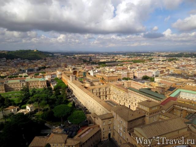 Вид на Рим и Ватикан с Собора Святого Петра (View of Rome and Vaticano)