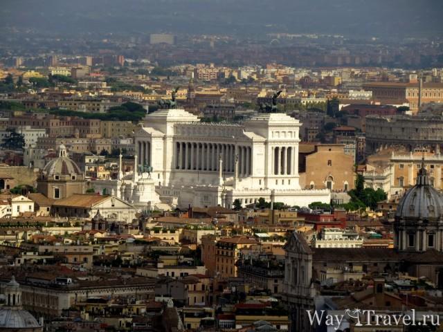 Вид на Площадь Венеции с Собора Святого Петра (View of Piazza Venezia)
