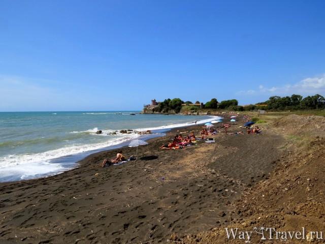 Пляж Санта Севера и Замок (Spiaggia Santa Severa and Castello di Santa Severa)