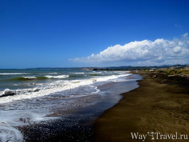Местный пляж Санты Северы (Spiaggia Santa Severa)