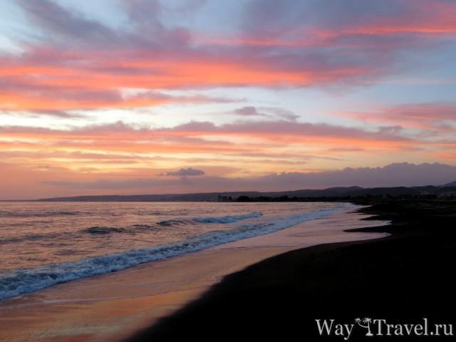 Закат солнца в Санта Севере (Sunset in Santa Severa)