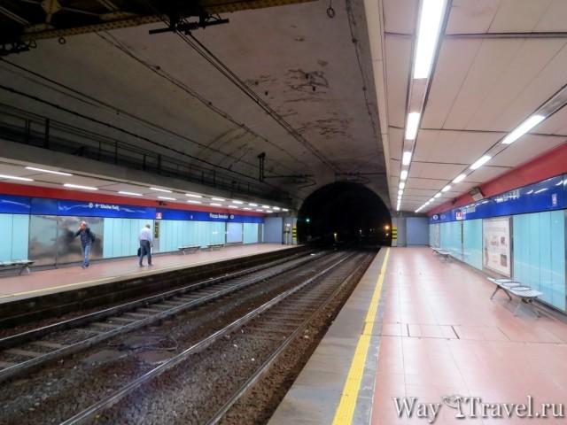Метро - станция Piazza Garibaldi (Metro station - Piazza Garibaldi)