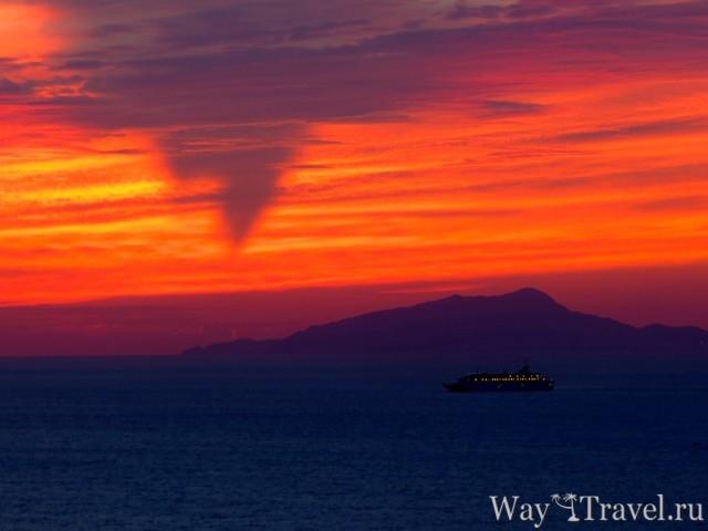 Закат над Неаполитанским заливом (Suset over Gulf of Naples)