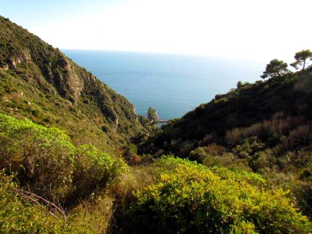 Вид на море с Тропы Ницше (Sea views from the Chemin de Nietzsche)