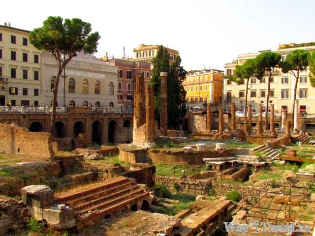 Рим - археологический музей под открытым небом (Largo di Torre Argentina)