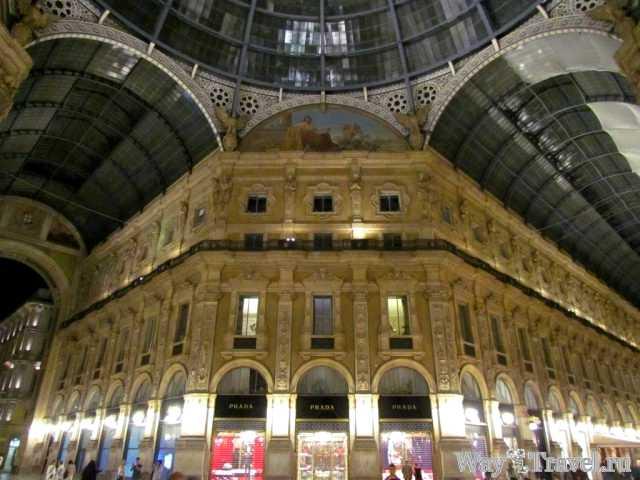 Милан - столица моды и севера Италии, Галерея Витторио-Эмануэле II (Galleria Vittorio Emanuele II)