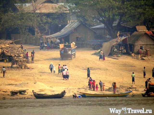 Деревня на реке Иравади (Village on the Irrawaddy river)