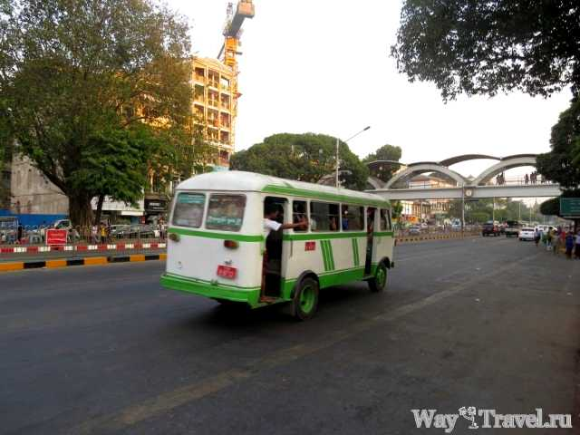 Маршрутки в Янгоне (Local bus in Yangon)