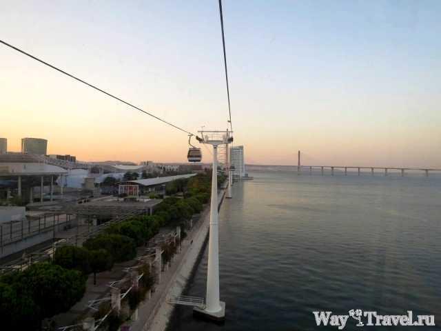 Парк Наций и мост Васко да Гамы (Parque das Nacoes and Ponte Vasco da Gama)