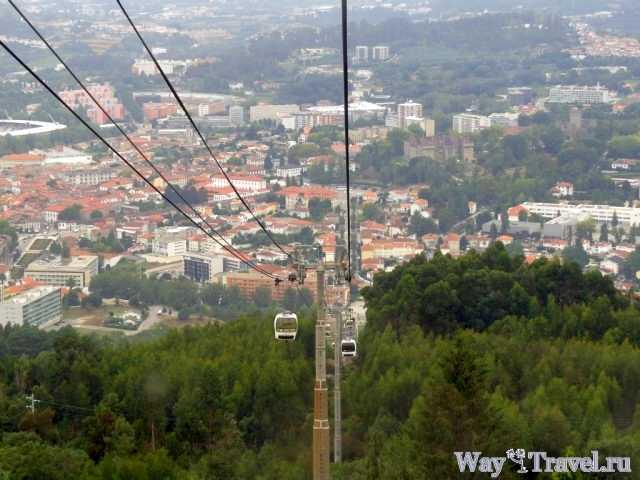 Канатная дорога на холмы Пенья (Telef?rico de Guimaraes)