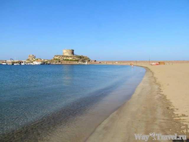 Пляж в городе Боза (Bosa beach)