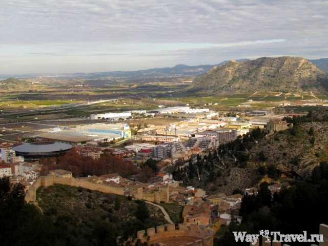 Хатива - вид на город (Xativa - city view)