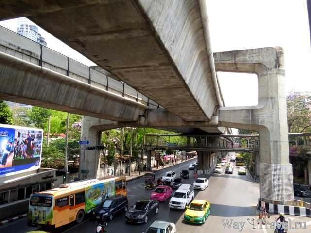 Бангкок - метро на бетонных опорах (Bangkok BTS Skytrain)