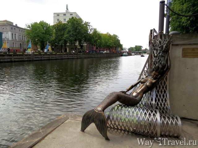 Памятник Русалке (Undine Klaipeda)