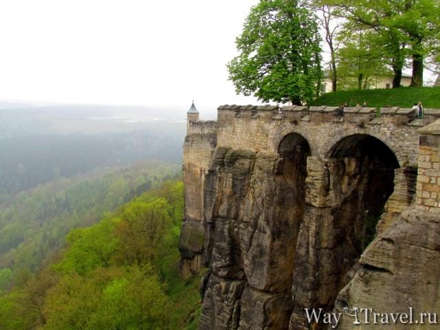 Кёнигштайн - неприступная крепость-замок Саксонской Швейцарии
