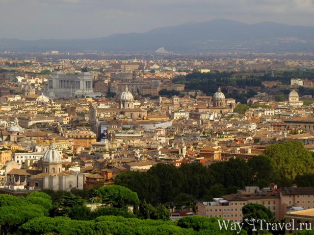 Вид на Рим с Собора Святого Петра (View of Rome)