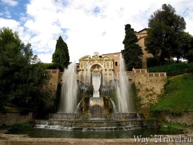 Вилла Д'Эсте (Villa d'Este. Fontana di Nettuno)