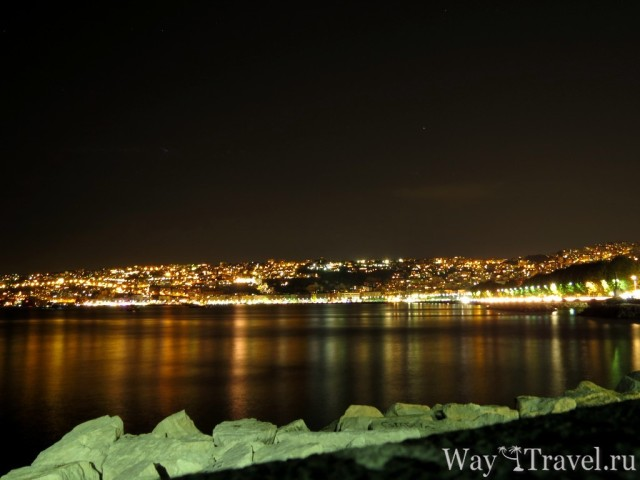 Набережная Неаполя ночью (Seafront of Napoli in the night)